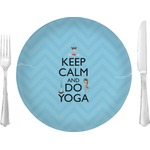 "Keep Calm & Do Yoga Glass Lunch / Dinner Plates 10"" - Single or Set"