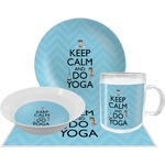 Keep Calm & Do Yoga Dinner Set - 4 Pc