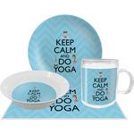 Keep Calm & Do Yoga Dinner Set - 4 Pc