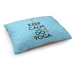 Keep Calm & Do Yoga Dog Pillow Bed