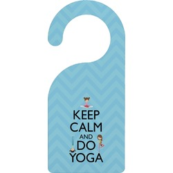 Keep Calm & Do Yoga Door Hanger