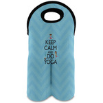 Keep Calm & Do Yoga Wine Tote Bag (2 Bottles)
