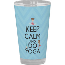 Keep Calm & Do Yoga Drinking / Pint Glass