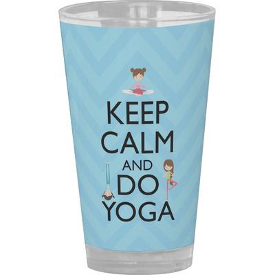 Keep Calm & Do Yoga Drinking / Pint Glass