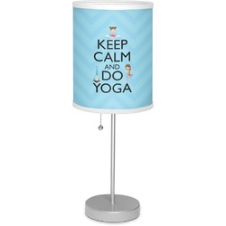 "Keep Calm & Do Yoga 7"" Drum Lamp with Shade"