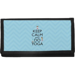 Keep Calm & Do Yoga Canvas Checkbook Cover