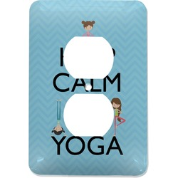 Keep Calm & Do Yoga Electric Outlet Plate