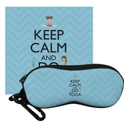 Keep Calm & Do Yoga Eyeglass Case & Cloth