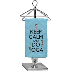 Keep Calm & Do Yoga Finger Tip Towel - Full Print