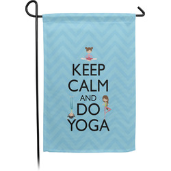 Keep Calm & Do Yoga Single Sided Garden Flag With Pole