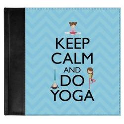 Keep Calm & Do Yoga Genuine Leather Baby Memory Book