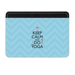 Keep Calm & Do Yoga Genuine Leather Front Pocket Wallet