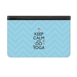 Keep Calm & Do Yoga Genuine Leather ID & Card Wallet - Slim Style