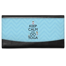 Keep Calm & Do Yoga Genuine Leather Ladies Wallet