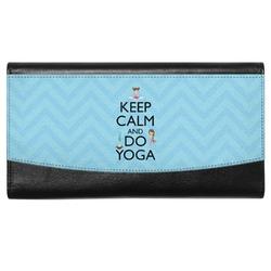Keep Calm & Do Yoga Genuine Leather Ladies Wallet
