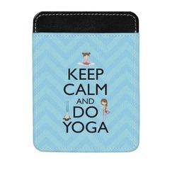 Keep Calm & Do Yoga Genuine Leather Money Clip