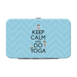 Keep Calm & Do Yoga Genuine Leather Small Framed Wallet