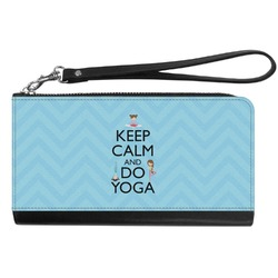 Keep Calm & Do Yoga Genuine Leather Smartphone Wrist Wallet