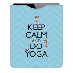 Keep Calm & Do Yoga Genuine Leather iPad Sleeve