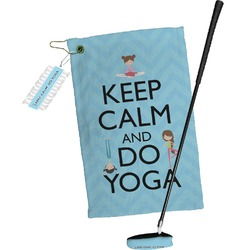 Keep Calm & Do Yoga Golf Towel Gift Set