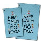 Keep Calm & Do Yoga Golf Towel - Full Print