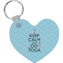 Keep Calm & Do Yoga Heart Keychain