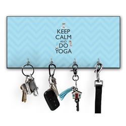 Keep Calm & Do Yoga Key Hanger w/ 4 Hooks