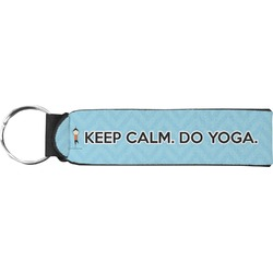 Keep Calm & Do Yoga Neoprene Keychain Fob