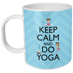 Keep Calm & Do Yoga Plastic Kids Mug