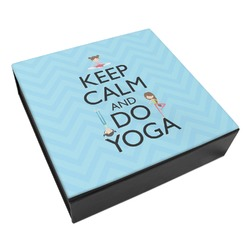 Keep Calm & Do Yoga Leatherette Keepsake Box - 8x8