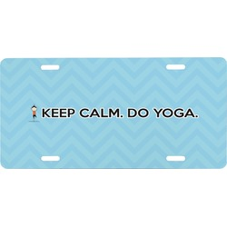 Keep Calm & Do Yoga Front License Plate