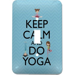 Keep Calm & Do Yoga Light Switch Cover (Single Toggle)