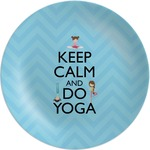 Keep Calm & Do Yoga Melamine Plate