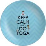 Keep Calm & Do Yoga Melamine Plate