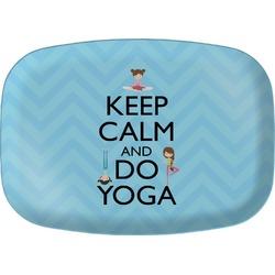Keep Calm & Do Yoga Melamine Platter