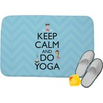 Keep Calm & Do Yoga Memory Foam Bath Mat