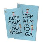 Keep Calm & Do Yoga Microfiber Golf Towel
