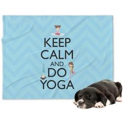 Keep Calm & Do Yoga Minky Dog Blanket