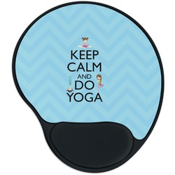 Keep Calm & Do Yoga Mouse Pad with Wrist Support