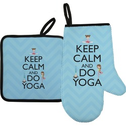 Keep Calm & Do Yoga Oven Mitt & Pot Holder
