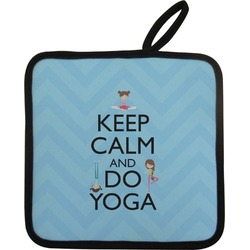 Keep Calm & Do Yoga Pot Holder