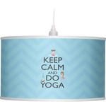 Keep Calm & Do Yoga Drum Pendant Lamp