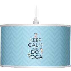 Keep Calm & Do Yoga Drum Pendant Lamp