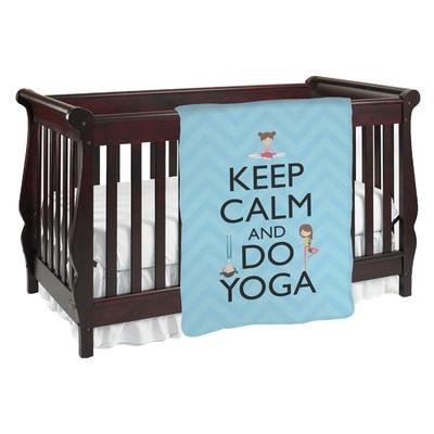 Keep Calm & Do Yoga Baby Blanket