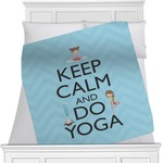 Keep Calm & Do Yoga Minky Blanket