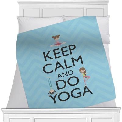 Keep Calm & Do Yoga Minky Blanket
