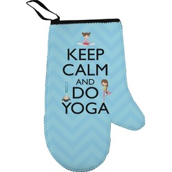 Keep Calm & Do Yoga Oven Mitt