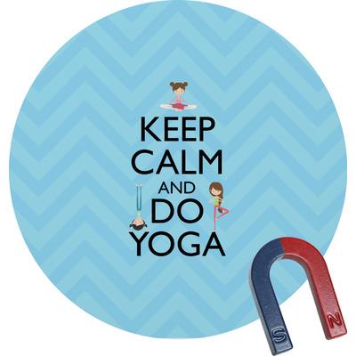 Keep Calm & Do Yoga Round Fridge Magnet