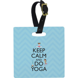 Keep Calm & Do Yoga Square Luggage Tag
