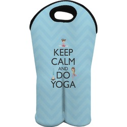 Keep Calm & Do Yoga Wine Tote Bag (2 Bottles)